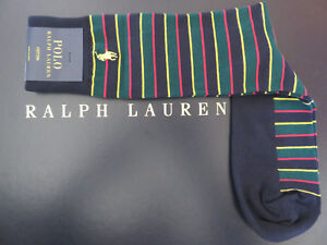 Polo RALPH LAUREN Tartan Stripe Socks Yellow, Green, Red, Navy Stripes