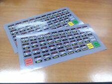 ZX Spectrum keyboard stickers