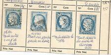 beau lot n60 4 timbres avec variétés  lot n23