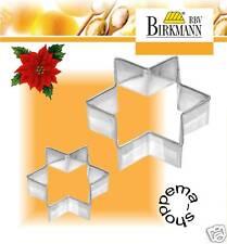Emporte-pièce gâteaux étoiles 6 et 9 cm acier inoxydable RBV Birkmann