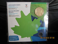 CANADA 2010  OLYMPIC  FIRST OLYPIC GOLD COMMEMORATIVE MEDALLION &NUGGETS