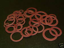 """40 Assorted Imperial Fibre Washers 1/8""""BSP to 1""""BSP"""