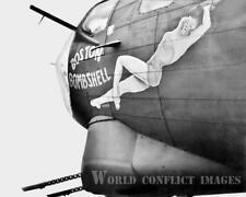 USAAF WW2 B-17 Bomber Boston Bombshell 8x10 Nose Art Photo 91st BG WWII