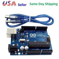 UNO R3 Development Board MEGA328P ATMEGA16U2  for Arduino Compatible + USB Cable