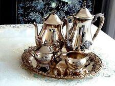 "MAGNIFICENT ELEGANT  SILVER PLATED TEA & COFFEE VINTAGE  SET "" VINERS"""