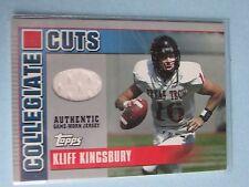 Kliff Kingsbury 2003 Topps Draft Picks & Prospects Collegiate Cuts Card #fc42 jb
