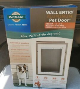 Pet Dog Door PetSafe Wall Entry Aluminum MEDIUM SIZE NEW 8.25 x 11.25 FREE SHIP