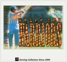1996 Futera World Cup Cricket Cards World Cup Warriors WC1: Sachin Tendulkar