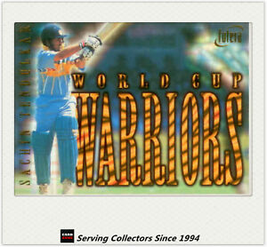 1996 Futera World Cup Cricket Cards World Cup Warriors WC1-Sachin Tendulkar-HOT*