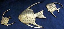 Brass Fish Ornamental Wall Hangers - Set of Three