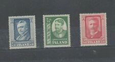 ICELAND STAMPS. SG325-327, UMM, CAT £50.00.