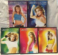 5 Carmen Electra Aerobic Striptease workout DVD lot, discs 1-5 Vegas strip dance