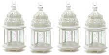 "Large 15"" tall White Moroccan Wedding Lantern (Set of Four) Party Supplies 38466"