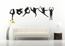 Wall Art Vinyl Sticker Room Decal Mural Decor Gymnastic Girls Dance Art bo2346
