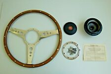 "New Moto-Lita Moto Lita 15"" Wood Steering Wheel and Adaptor  for MG TD TF"