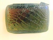 NEW genuine real ALLIGATOR crocodile KEYCHAIN wallet belt boots black Italy