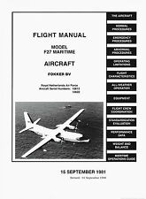 FOKKER F-27 MARITIME FLIGHT MANUAL 1981