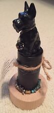 "Scottish Terrier Mini Assemblage Hand Made Antique Dog Figurine-""Great Scott"""