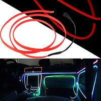 Dark orange LED Neon Light Glow EL Wire Rope Tube Car Decorative Light Strip NEW