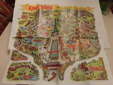 1973 KINGS ISLAND AMUSEMENT THEME PARK  SOUVENIR MAP GUIDE