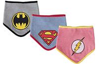 DC Comics Baby Boys Bandana Bibs Superman Batman The Flash Gift Set 3 Pack