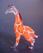 Glass GIRAFFE Orange & White Painted Glass African Savannah Animal Ornament Gift
