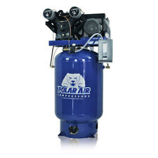 7.5HP V4 Single Phase 120 Gallon Tank Vertical Industrial Plus Air Compressor