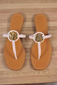 New Tory Burch Mini Miller Leather Thong Sandal Women's 9 M