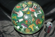 RARE 'The Mushroom Puzzle' COMPLETE Vintage Springbok puzzle round circular LG.