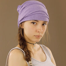 Purple Lilac Thicker Tube Head Wrap Long Durag Bandana Extra Wide Stretch Cosy