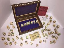 Vintage 1920s Parker Bros MAH-JONGG Joseph Babcock Custom Artwork Wood Case Game