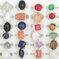 10St Großhandel Gemischter Viele Natürliche Stein mix Farbe Stein Schmuck Ringe