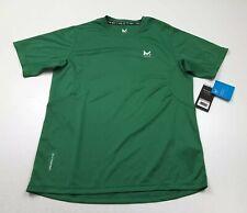 Mission Men's Alpha Crew Short Sleeve Shirt Green Size S