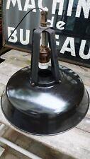 Lampe Industrielle Suspension Métal Tôle émaillée MAZDA Réflectolux XXL 1960
