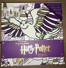 Harry Potter Winter at Hogwarts A Magical Coloring Set 3D Firebolt Gift Tag Book