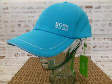 HUGO BOSS GREEN Baseball Cap 1 HBG Men's Turquoise Cotton Hat Sport Caps BNWT