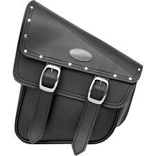 All American Rider Black Swingarm Storage Bag w/ Buckles & Studs for Softails