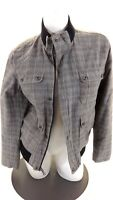 INC INTERNATIONAL CONCEPTS WOMENS PLAID COTTON CASUAL JACKET SIZE S