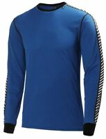 Helly Hansen Lifa Dry Stripe Crew Thermal Long Sleeved Top Cobalt Blue NEW