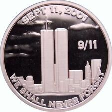 1 oz Copper Round - 9/11 We Shall Never Forget