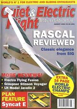 QUIET & ELECTRIC FLIGHT INTERNATIONAL MAGAZINE 2004 AUG SYNCAT E FEATURE, RASCAL