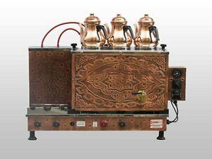 Brand New Copper Tea Maker 3x pots Electric Turkish Tea maker