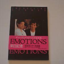 ROLLING STONES - EMOTIONS STEEL WHEELS US TOUR 1989 - JAPAN BOOK 1989 PRESS