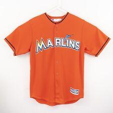 Giancarlo Stanton Miami Marlins Majestic Coolbase MLB Jersey Mens Size M Orange