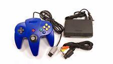 ** AC Adaptor + Blue Controller + AV Cable Cord  Bundle for Nintendo 64 N64