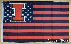University of Illinois Fighting Illini 3x5 ft Flag NCAA