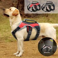 Reflektierend Hundegeschirr Geschirr Tragegeschirr Verstellbar mit Griff S M XL