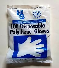 Polythene Disposable Gloves Medium 100 per pack.....