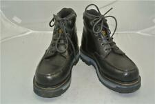CATERPILLAR BLACK LEATHER ANKLE BOOTS (UK SIZE 6) MARINE POWER