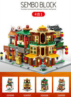 4pcs/set Sembo Blocks Kids Building Toys Girls Boys Puzzle Chinese Style no box
